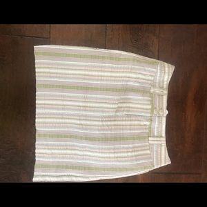 CAbi striped pencil skirt size 4